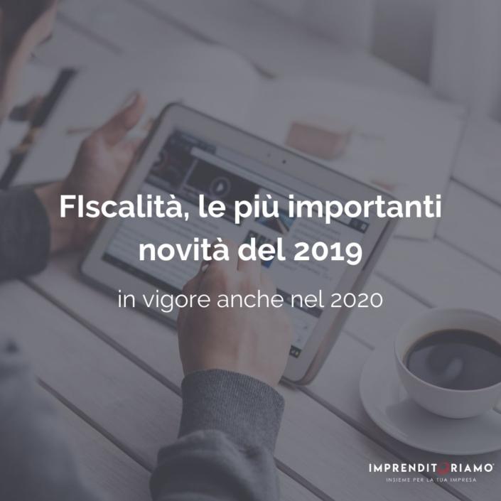 Fiscalità novità 2019 - header image