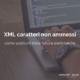 XML caratteri non ammessi - header foto
